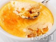 Сушени кайсии в яйчен крем
